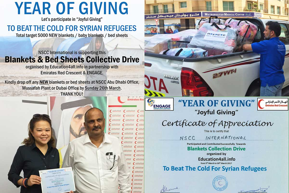 Blanket Collection Drive for Syrian Refugees