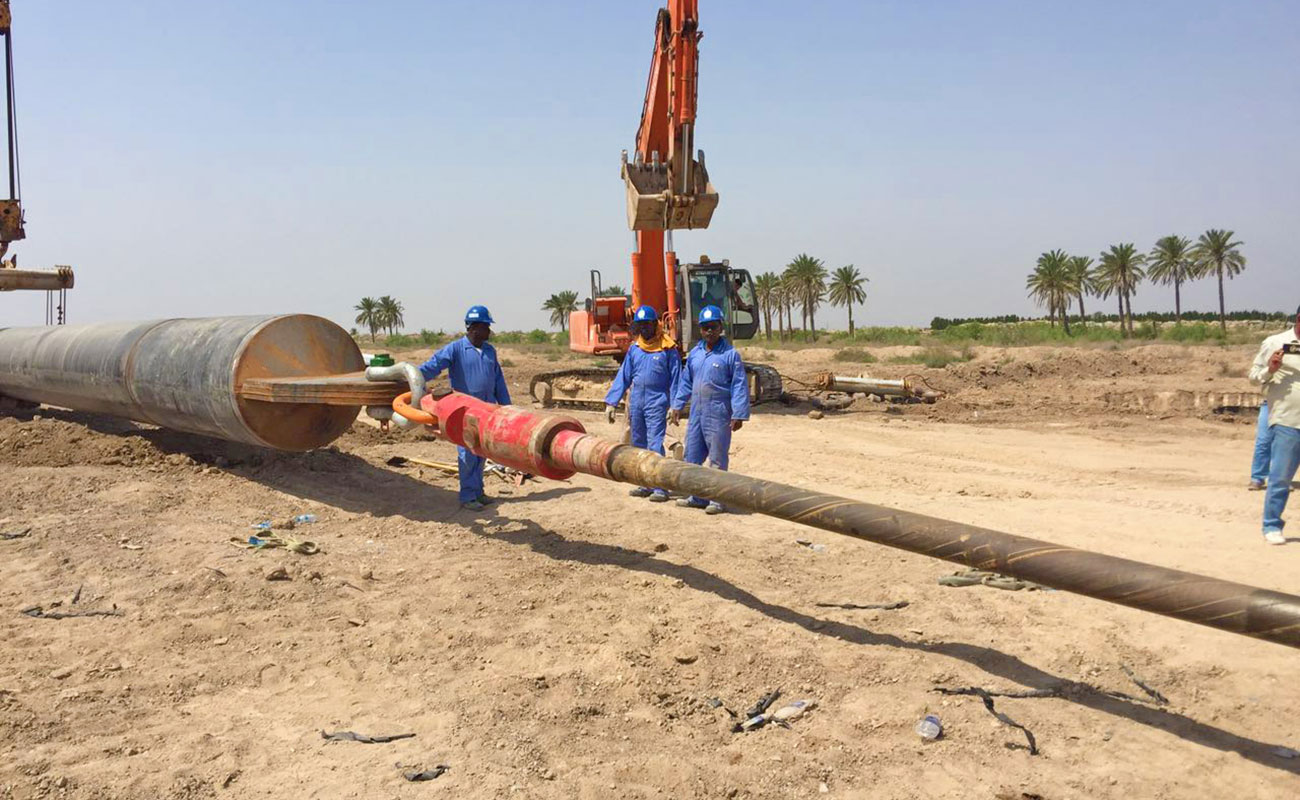 Installation of Gas Pipelines for SCOP, Iraq