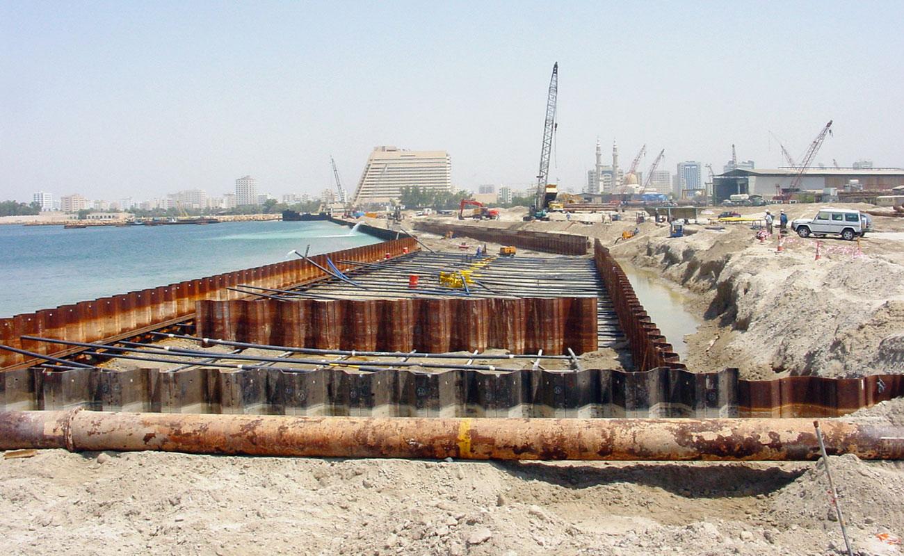 Quay Wall at Mina Khalid