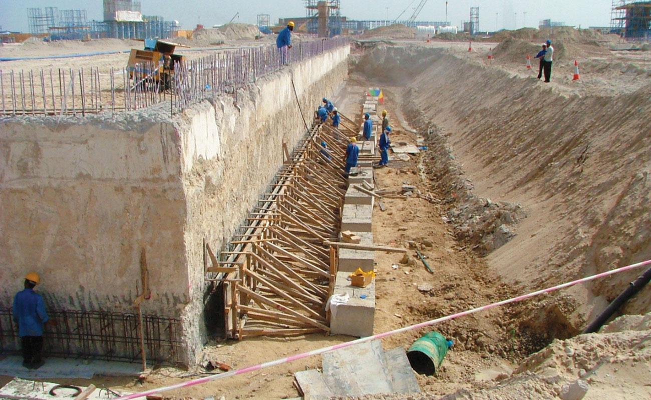 Quay Walls at the Palm Jumeirah